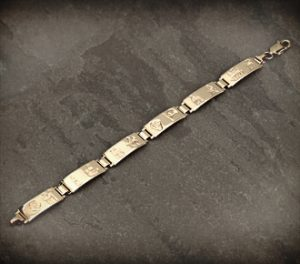 History of Ireland 14k Gold Bracelet S5333