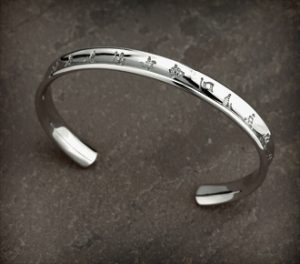 History of Ireland Sterling Silver Bangle