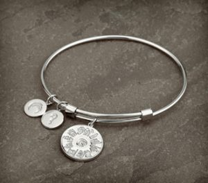 History of Ireland Sterling Silver 3 Disc Bangle