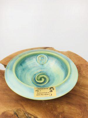 Colm De Ris Green Bowl Newgrange bowl