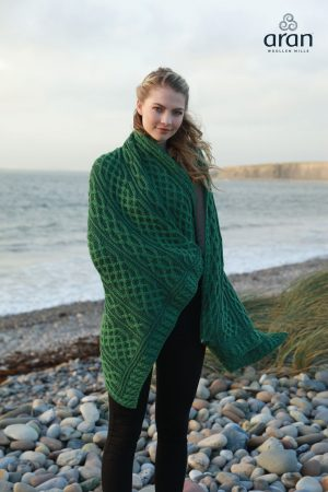 Merino Wool Irish Green Blanket