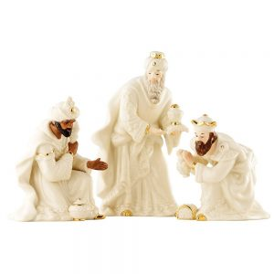 Belleek Christmas Nativity Three Kings Set 7253