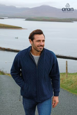 Mens Windproof Cardigan Irish Jacket