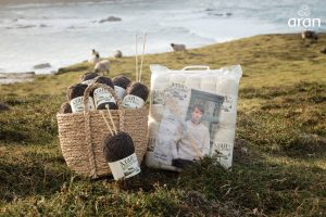 Irish natural knitting wool pack