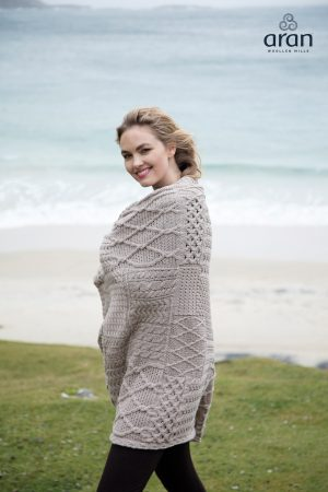 Aran Woollen Mills Plaited Irish Blanket