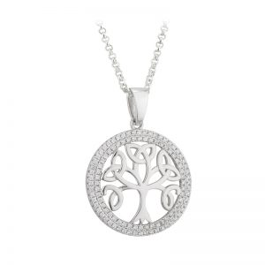 '1' Solvar Tree of Life Sterling Silver Pendant Necklace S46032