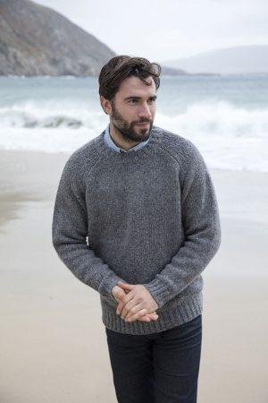 Men's Irish Grey Crew Neck Sweater