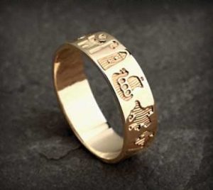 History of Ireland 14K Gold Ring s2419