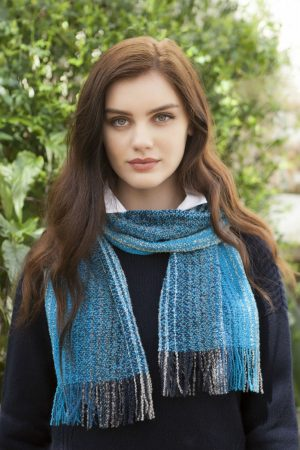 Mucros Skellig Scarf Blue Mix