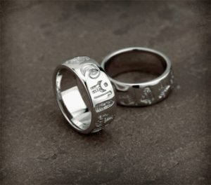 History of Ireland Sterling Silver Ring