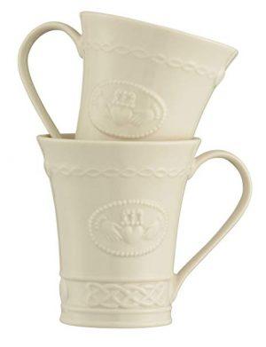 Belleek Claddagh Mugs Set of 2