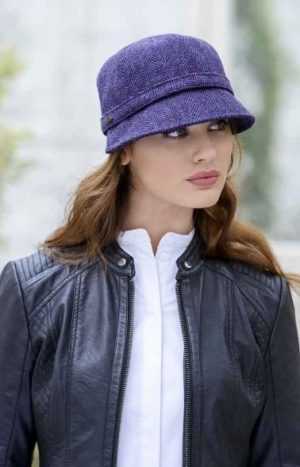 Ladies Mucros Tweed Flapper Cap hat