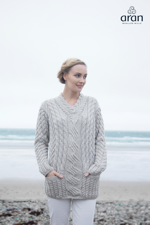 6f28ed039 Super Soft Merino Wool Aran Sweater B950 Carraig Donn - Skellig Gift ...