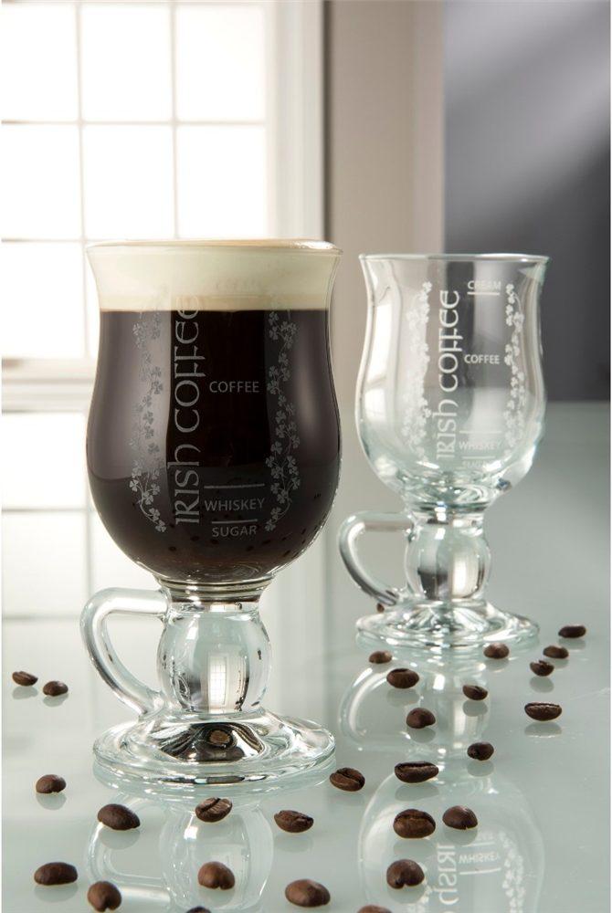 Galway Crystal Irish Coffee Glasses Pair