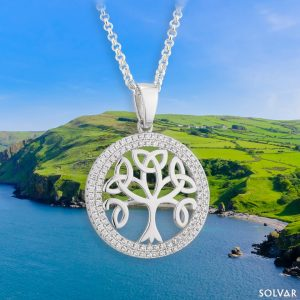 Solvar Tree of Life Sterling Silver Pendant Necklace