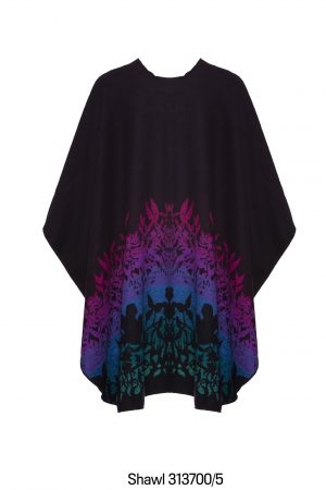 Jimmy Hourihan Multi Color Shawl Cape