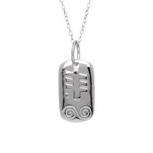 Sterling Silver April Silver Celtic Astrology Pendant