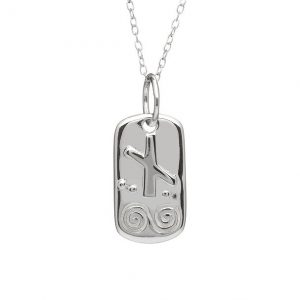 Sterling Silver August Silver Celtic Astrology Pendant