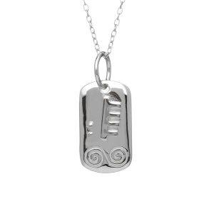 Sterling Silver February Celtic Astrology Pendant