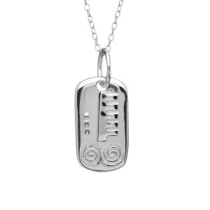 Sterling Silver March Silver Celtic Astrology Pendant
