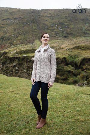 Irish Merino Wool Cardigan Wicker
