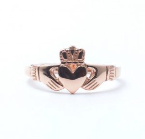 10k Rose Gold Claddagh Ring