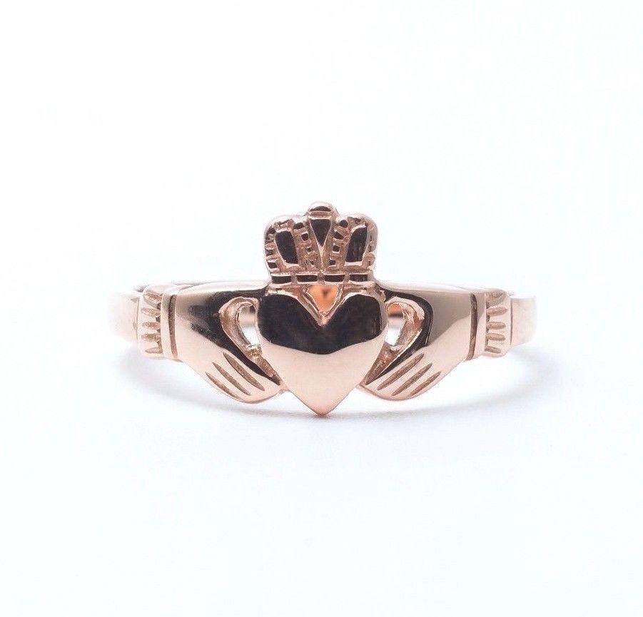 10k rose gold claddagh ring made in ireland skellig. Black Bedroom Furniture Sets. Home Design Ideas