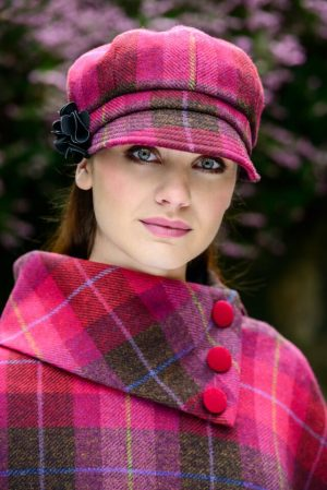 Ladies Red Tweed Hat Mucros Weavers - Newsboy Cap