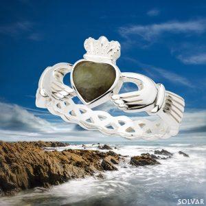 Claddagh Ring Connemara Marble