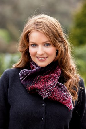 Mucros Red Black Skellig Scarf