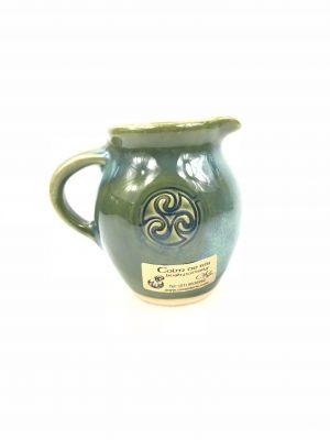 Colm De Ris Irish Pottery Green Small Belly