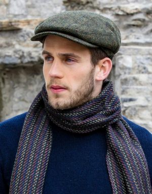 Green Herringbone Mucros Kerry Cap