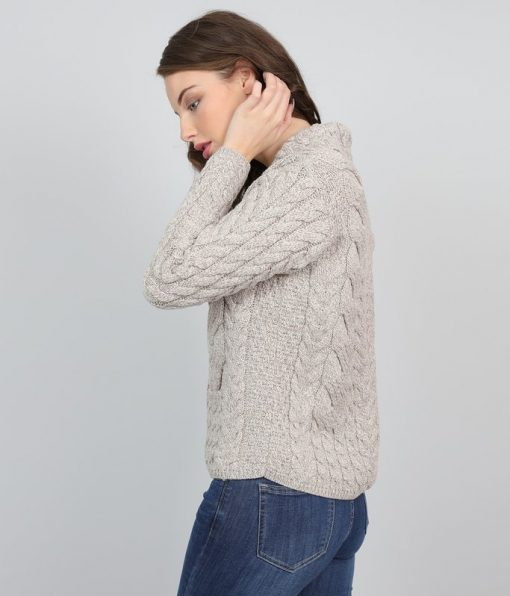 Cable Knit Super Soft Merino Wool Cardigan