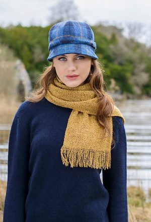 Blue Check Flapper Hat Mucros 773-5