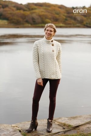 Ladies Luxury Cable Knit Cardigan
