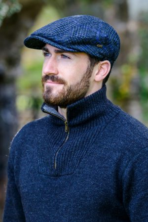 Mucros Charcoal Blue Line Kerry Cap
