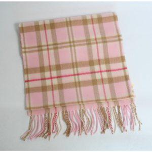 John Hanly Pink Merino Wool Scarf