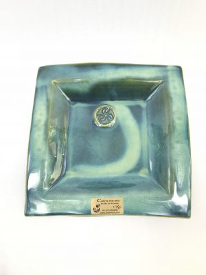 Colm De Ris Medium Green Square Plate