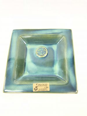 Colm De Ris Small Green Square Plate