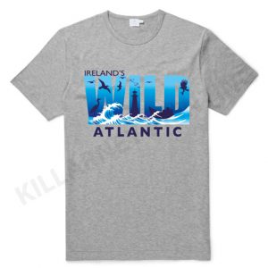 Grey Wild Atlantic Way Irish T-Shirt