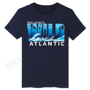 Navy Wild Atlantic Way Irish T-Shirt