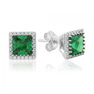 Waterford Jewellery Emerald Stud Earrings