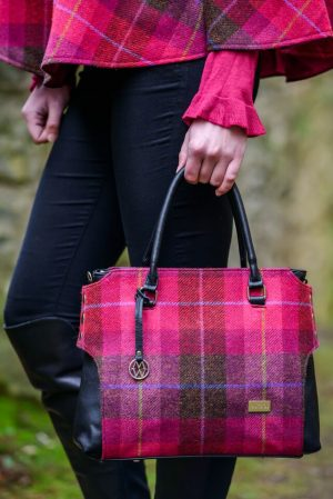 Mucros Pink Check Emily bag