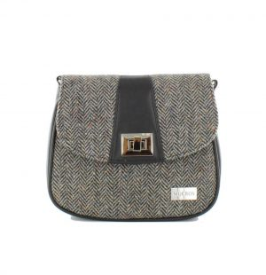 Sarah Mucros Shoulder Bag Gray Tweed col 1
