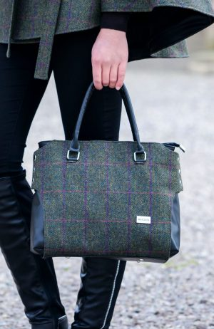 Mucros Green Tweed Emily bag