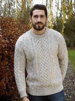 Aran Crafts Traditional Crew Neck Sweater
