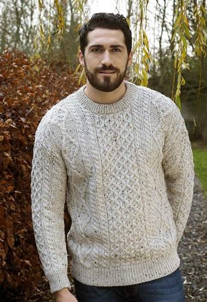 Aran Crafts Traditional Crew Neck Sweater
