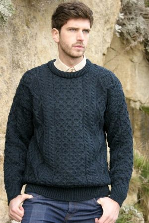 Blackwatch Irish Wool Aran Sweater