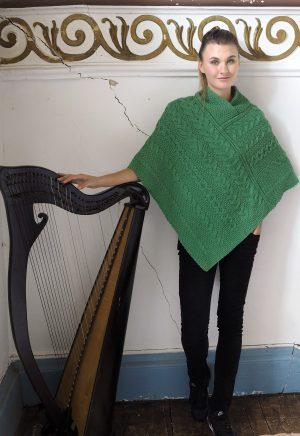 Aran Crafts Green Aran Poncho