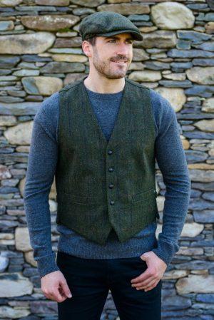 Mucros Green Irish Tweed Waistcoat